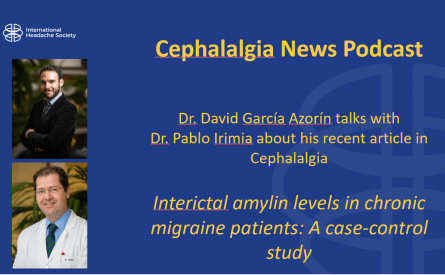 Cephalalgia Podcast 3 — Interictal amylin levels in chronic migraine patients: a case-control study