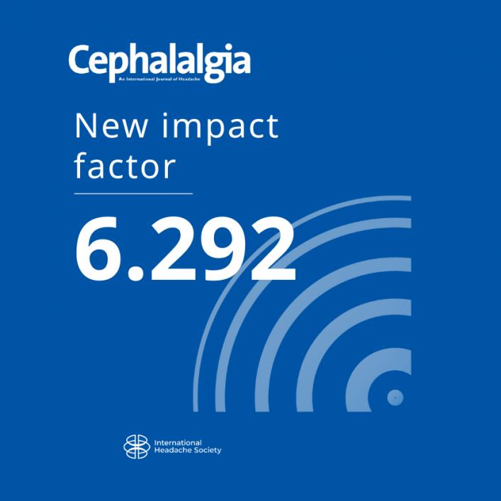 Cephalalgia Impact Factor increased to 6.292