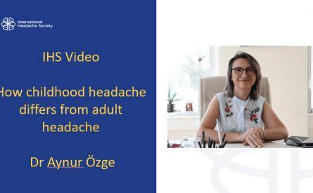 How childhood headache differs from adult headache